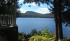 Lake Willoughby is just out out the back door at our three season vacation cottage rental.